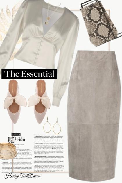 Taupe Skirt- コーディネート