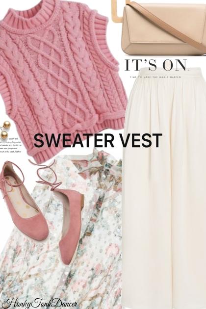 Pink Sweater vest