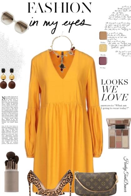 Fall Mustard Dress