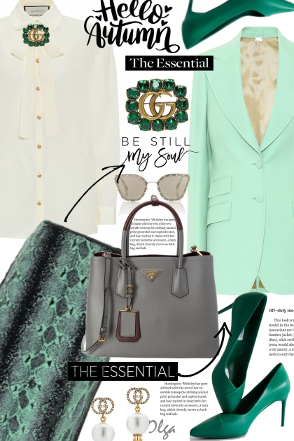 Business outfit in mint