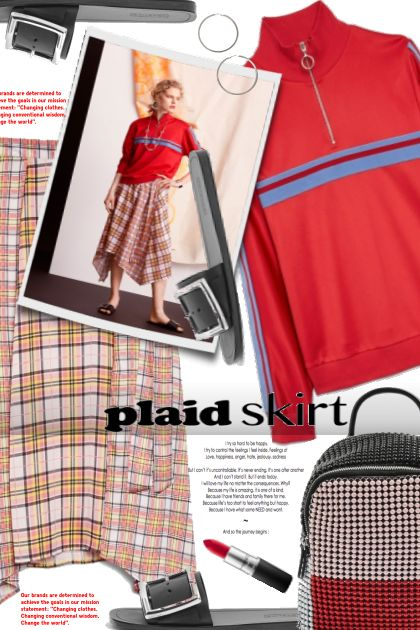 plaid skirt- Combinaciónde moda