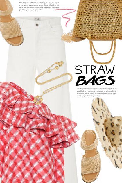 straw bags 2- Combinaciónde moda
