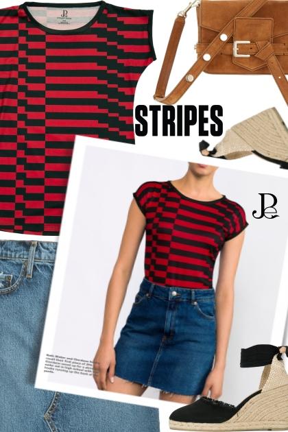Stripes Tee- Combinaciónde moda