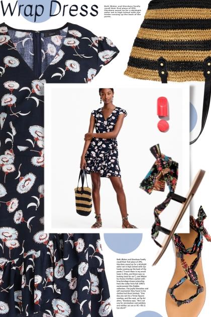 Wrap Dress- Combinaciónde moda