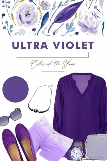 Simplicity in violet tones