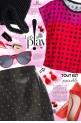 Pink Red Polka Dot Box Cut Flowy Tee