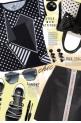 Black And White Polka Dots Geo Print Tee