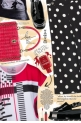 Red Black Box Cut Graphic Tee