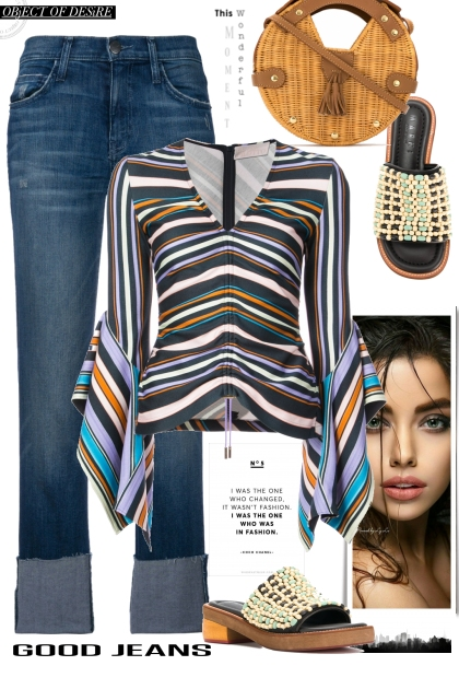 PETER PILOTTO striped sleeve blouse