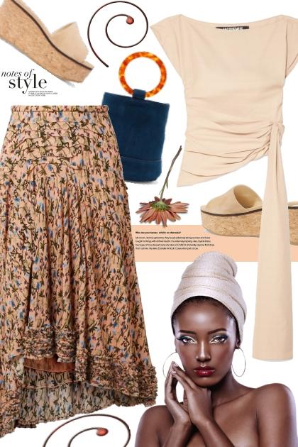 Chloe floral-print georgette skirt