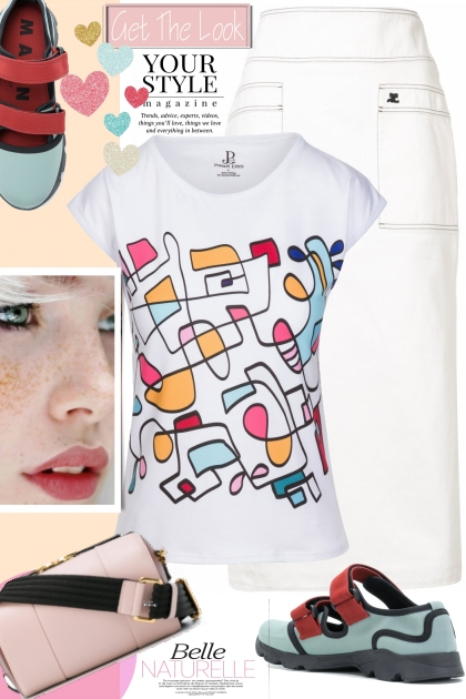 Abstract Hand Drawn Colorful T-shirt