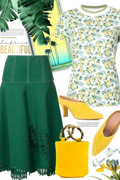 FENDI flared midi skirt