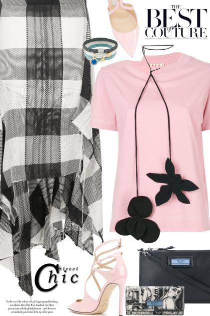 MARQUES'ALMEIDA checked asymmetric skirt