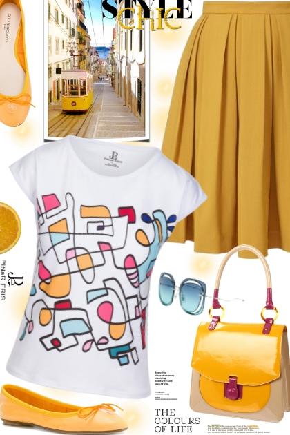 Hand Drawn Colorful T-shirt