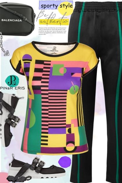 Multi Colored Geometric T-Shirt