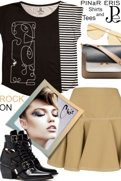 Stripe Graphic Tee - Fashion set