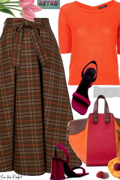 MSGM checked flared skirt - Combinaciónde moda