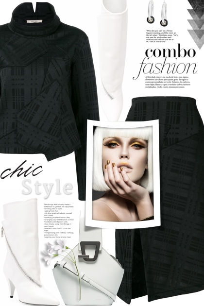 Black & white dress code- Combinaciónde moda
