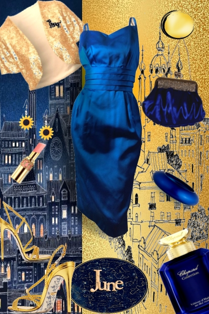 June, Gold and deep blue.