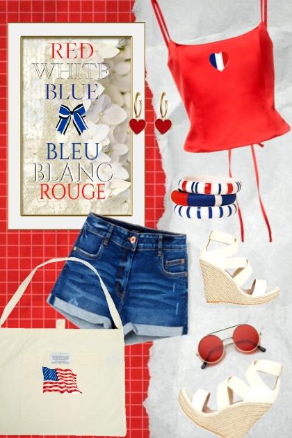Red-White-Blue/Blue-White-Red- Combinazione di moda