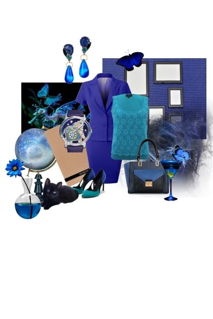 Jewel tones - sapphire - V