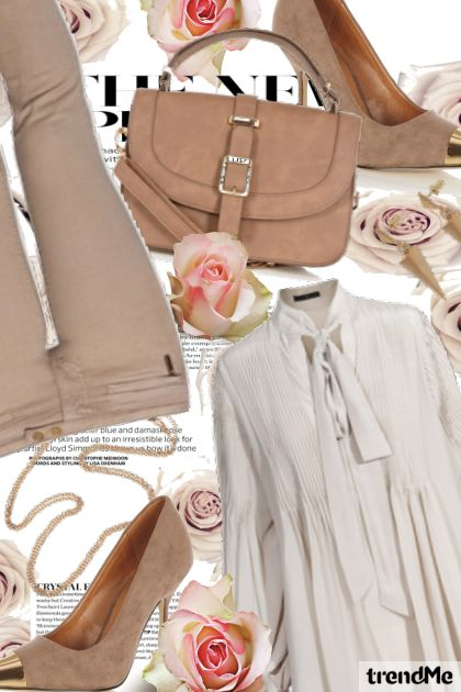 Elegant outfit in beige