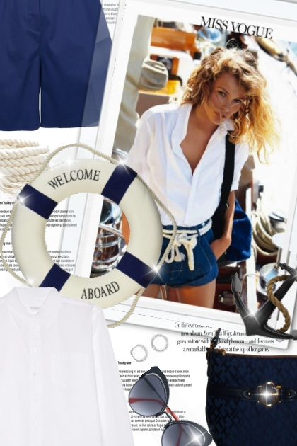 Miss Vogue: nautical style!