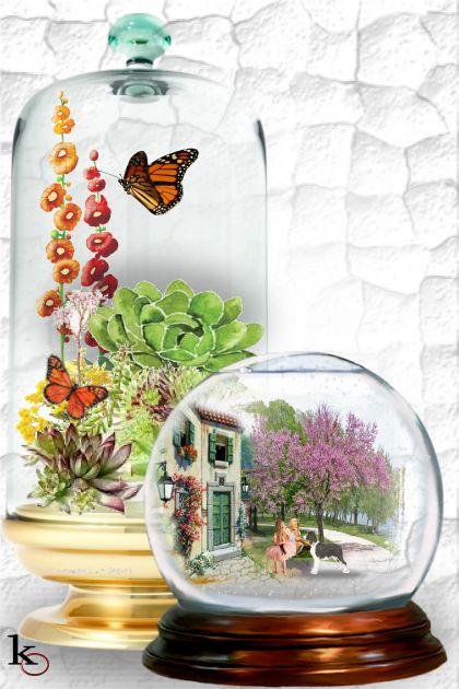 Glass Globe Vignette