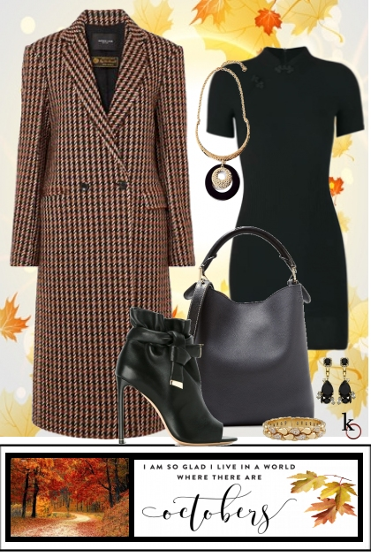 Houndstooth Coat & a LBD !!!