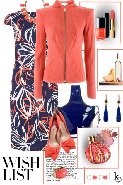 "She "" Loves "" Coral . . .- Fashion set"