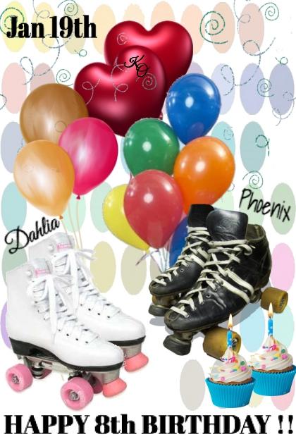 BIRTHDAY SKATING PARTY !!