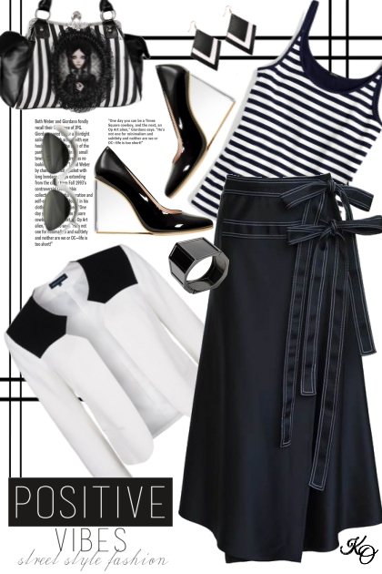Only Black & White Today - Modna kombinacija