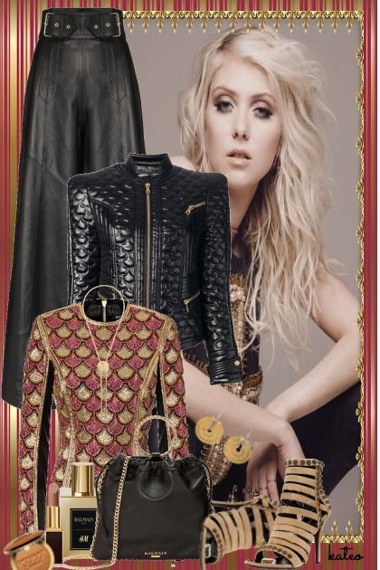 Black Leather & Gold Tones
