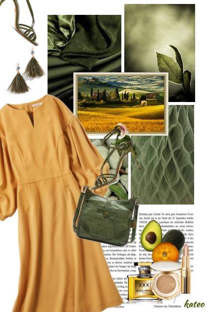 Avocado and Goldenrod    - Combinazione di moda