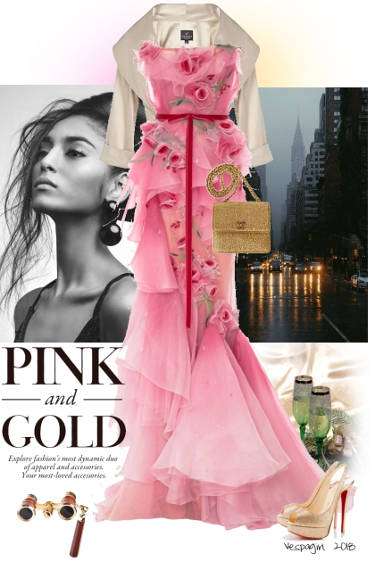 Pink and Gold Black Tie