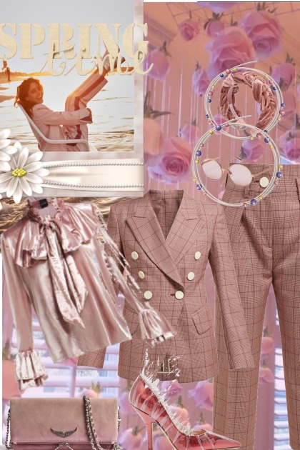 Check spring out- Fashion set