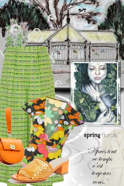 spring flowers and April showers