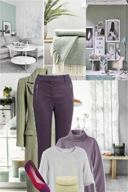 purple,gray and green