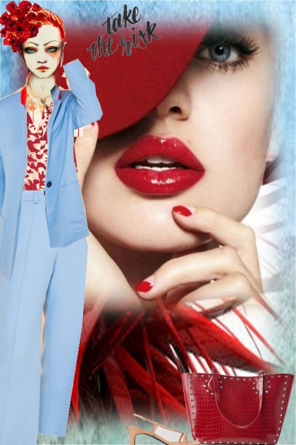 spring trend- blue and red