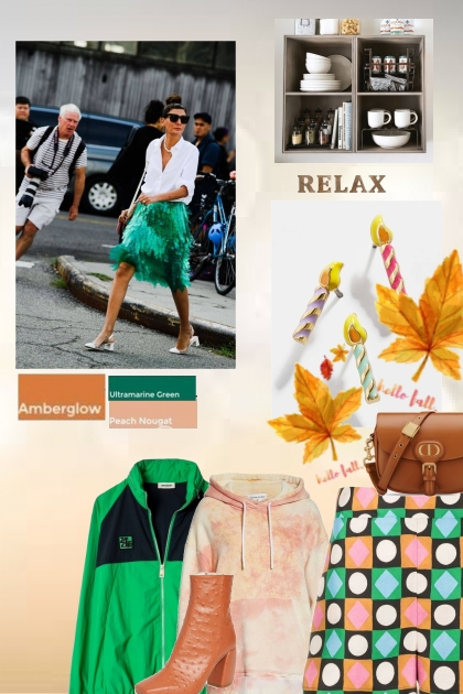 Fall colours-amber,peach and green