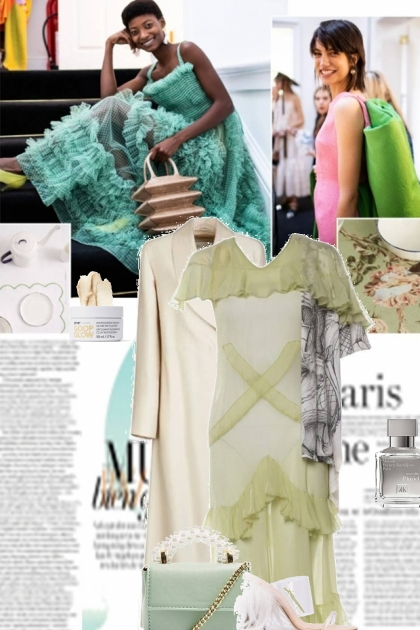 green and almond milk- Fashion set