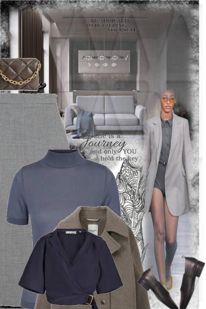 gray and brown 2- Fashion set