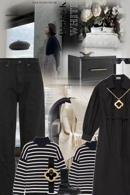 Monochrome matters- Fashion set