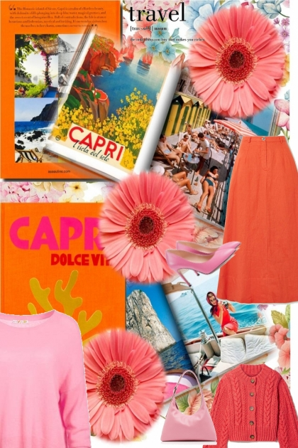 the colours of Capri for spring