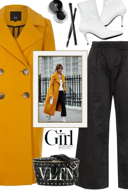 Yellow Wool Coat!