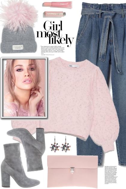 Pink Sweater!- Combinaciónde moda