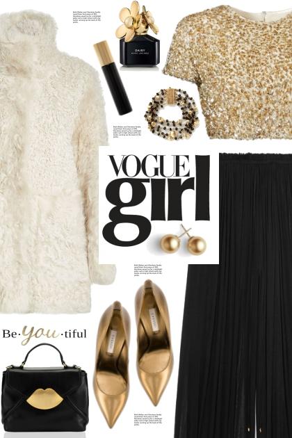 Gold Sequin Top!- Fashion set