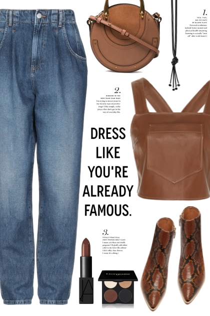 Brown Leather Top!