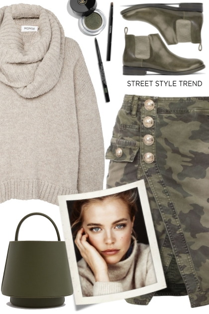 Balmain Camouflage Skirt!