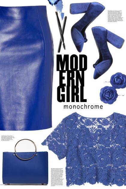 Blue Leather Skirt!